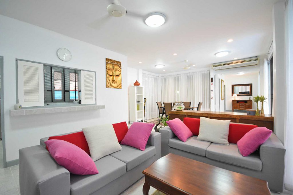 Living area for villa in Krabi
